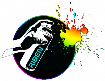 RIBEN- SPRAYPAINTING Logo